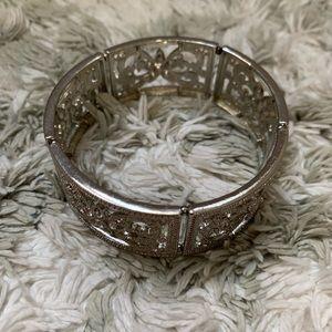 Silver Sparkle Elastic Bracelet ✨